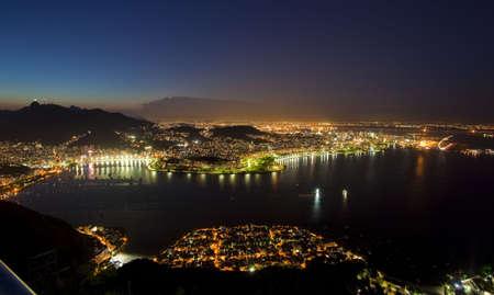 Night views of Rio De Janeiro Brazil from Sugar Loaf Mountain Stock Photo - 6151934
