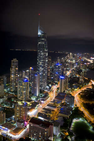 night scene of the gold coast with q1 photo