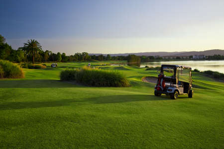 Golf Course and buggies Stock Photo - 6151929