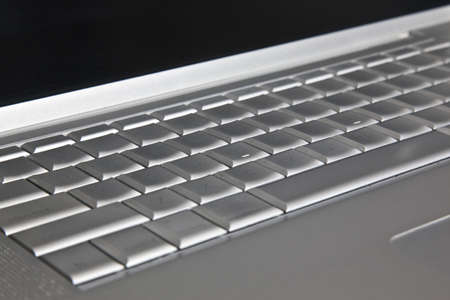 Modern silver  Laptop keyboard photo
