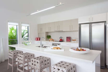 Kitchen in new modern townhouse Stock Photo - 6596230