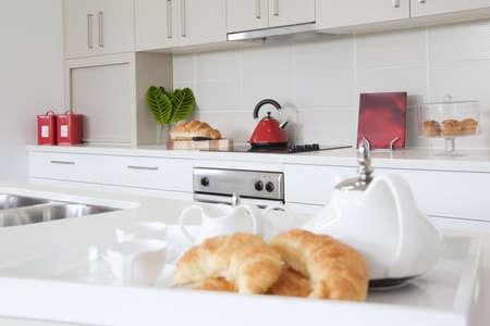 showcase interiors: Kitchen in new modern townhouse