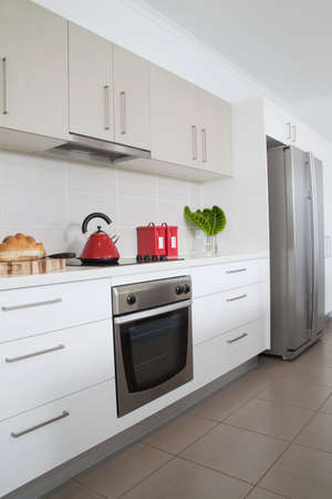 Kitchen in new modern townhouse Stock Photo - 6596220