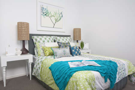 guest bedroom in modern townhouse photo