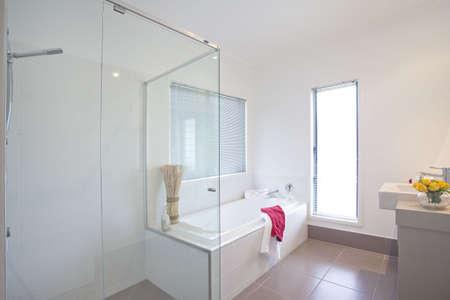 showcase interiors: bathroom in modern townhouse