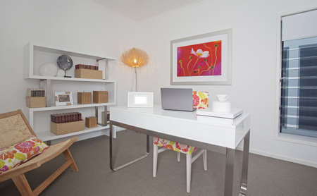 architectural interiors: Home Office in modern townhouse