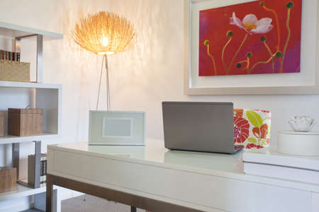 decor: Home Office in modern townhouse