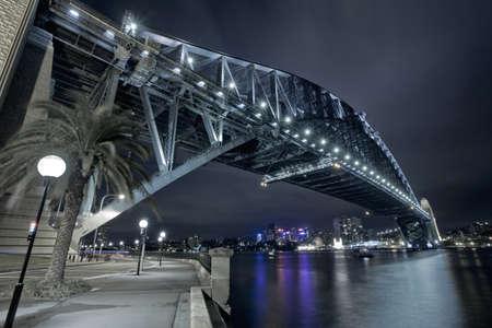 Sydney Harbour Bridge at night photo