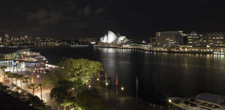 utzon: Sydney Opera House and Circular Keys at night