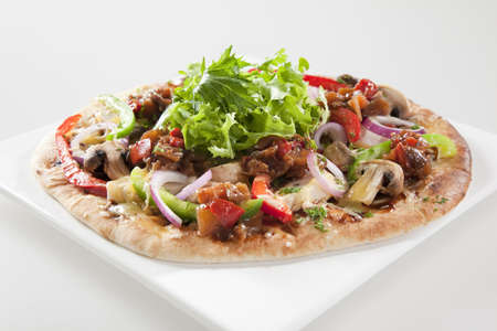 pizza base: SPICY EGGPLANT AND CAPSICUM PIZZA