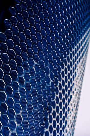 meshed: Dark blue Metal Mesh Texture closeup shot