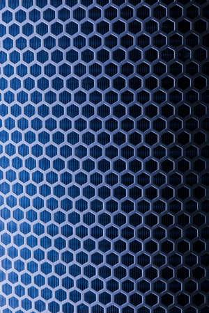 Dark blue Metal Mesh Texture closeup shot photo