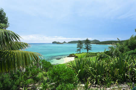 Views to tropical Paraidse Lord Howe Island Stock Photo - 9764324