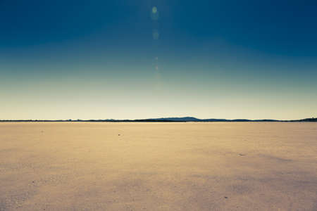 barren: dry lake in rural australia Stock Photo