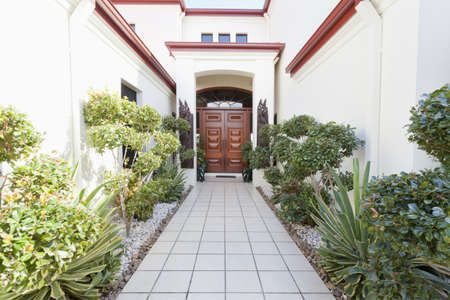 Entrance to luxury mansion Stock Photo - 13909521
