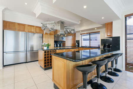 Stylish kitchen in luxurious house photo