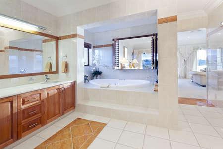 Stylish bathroom in luxury house Stock Photo - 13909503