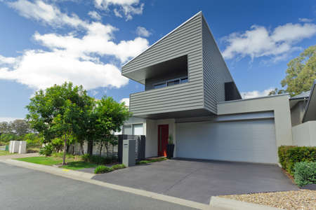 Modern Australian house front photo