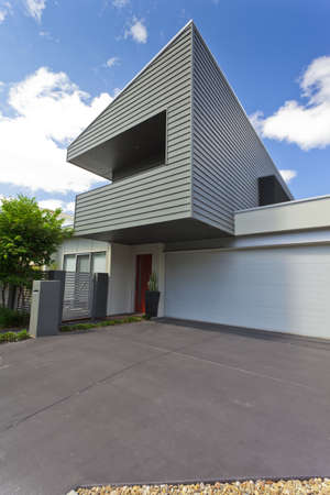 Modern Australian house front, vertical photo