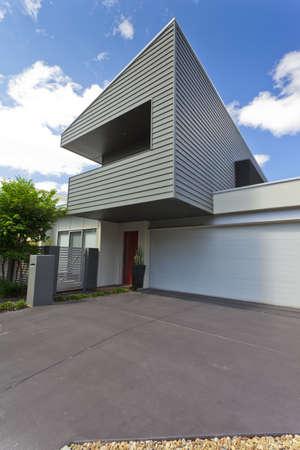 Modern Australian house front, vertical photo