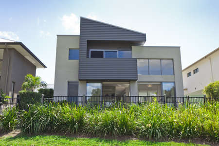 Modern two storey Australian house front photo