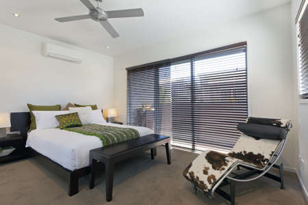 Stylish double bedroom in Australian mansion photo