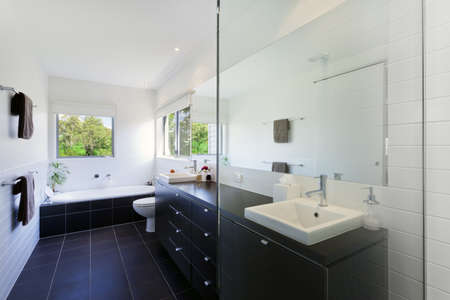 Modern bathroom in stylish Australian house Stock Photo - 14018615