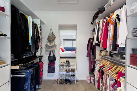 Walk in wardrobe in Australian masnsion photo