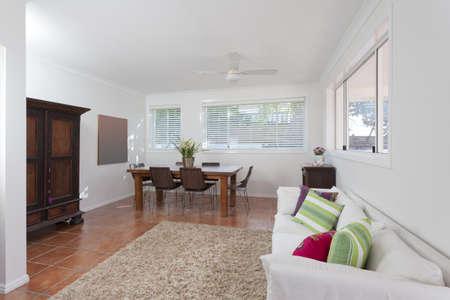 Modern living room in Australian mansion photo
