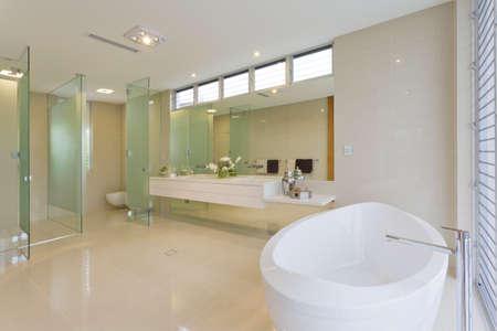 Modern bathroom in luxury Australian house photo