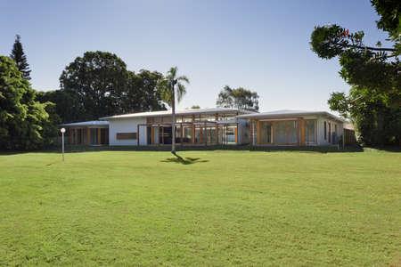 Large backyard in stylish Australian mansion Stock Photo - 15616701