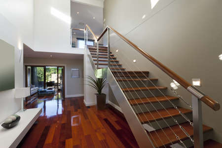 Stylish house interior with staircase