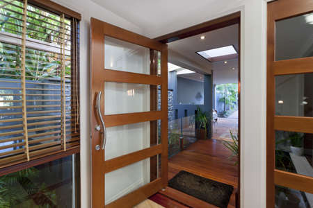 front door: Entrance to stylish modern home