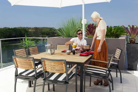 Modern balcony in luxury penthouse Stock Photo - 18573628