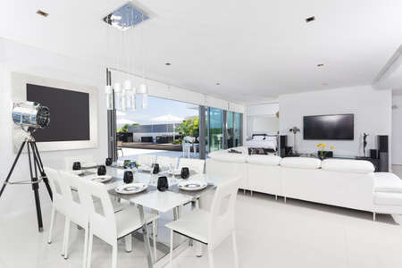 Luxurious penthouse interior