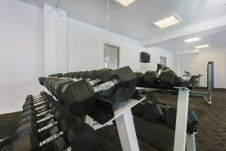 Modern gym interior with equipment Stock Photo - 18573169