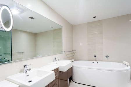Modern bathrrom in luxury apartment