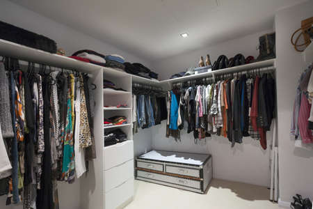 walk in closet: Walk in wardrobe interior