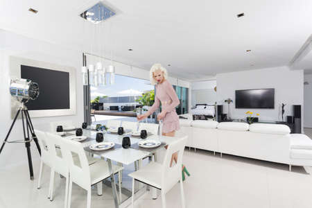 Attractive woman in luxury apartment Stock Photo - 18936962