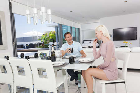 Attractive couple in luxury apartment Stock Photo - 18936991