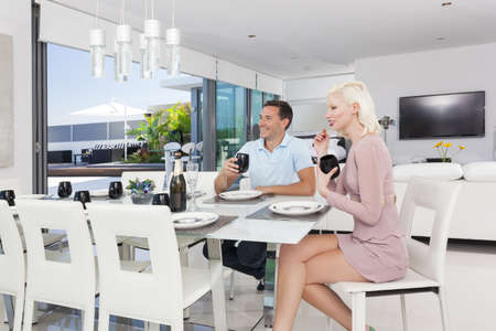 Attractive couple in luxury apartment Stock Photo - 18936983
