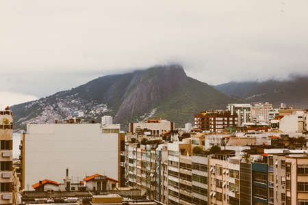 Buildings and mountain in Rio De Janero on a cloudy afternoon photo