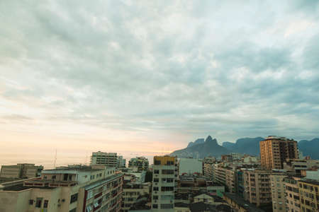 sunset over rio dejanero cityscape photo