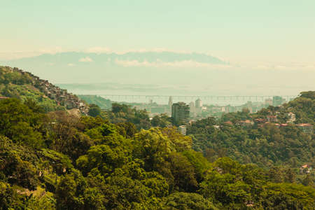 Forest and city view over Rio De Janero photo