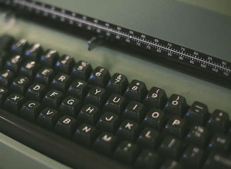 crop margins: Vintage typwriter keyboard