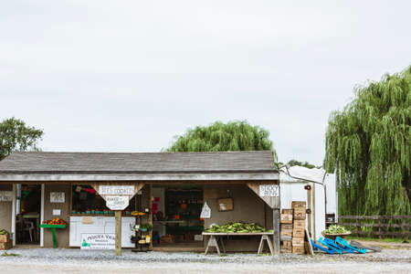 side road: Roadside produce stall in Amish Country, Pennsylvania