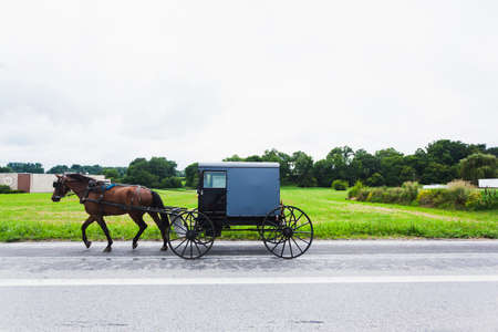 transportaion: Horse and cart in Amish Country, Pennsylvania