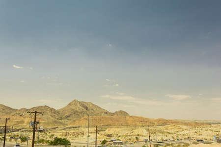 desierto paisaje de montaña en El Paso, Texas