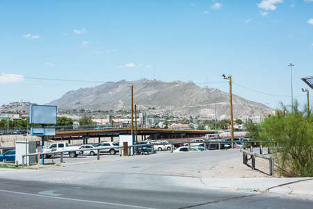 El Paso cityscape with mountain in background in Texas photo