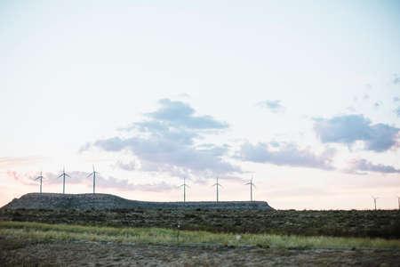 america countryside: Windmill farm in Texas countryside, America